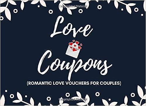 Book Of 12 Love Vouchers Romantic Vouchers Coupons Valentine Gift