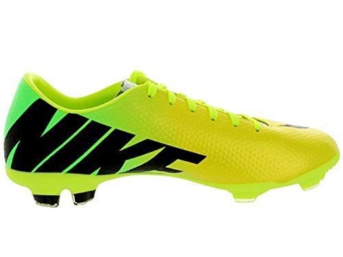 Nike Kids Jr Mercurial Vapor IX FG Vibrant Yellow/Black/Neo Lime Soccer Cleat 6 Kids US - Nike Big Kids Mercurial Grip