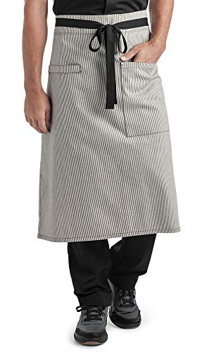 Ivory/Blue Denim Bistro Apron (Unisex Adult Sized) | Perfect for Chefs, Bakers, Home Kitchens, Restaurants, Servers, Uniforms, Gifts, Men, Women, Hobbyists, Professionals, and More (Hot N Fresh Out The Kitchen Apron)