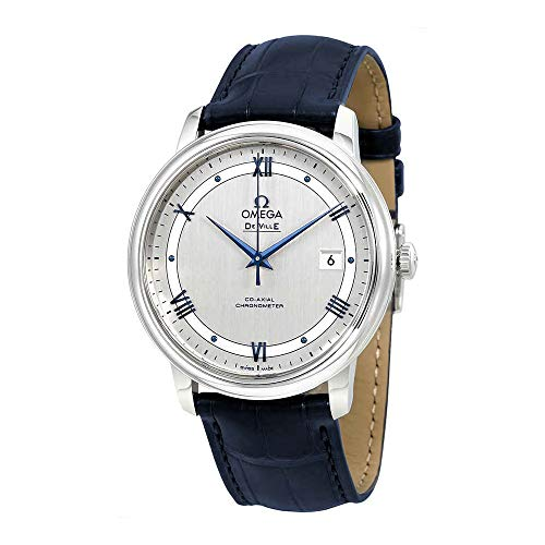 Omega De Ville Automatic Co-Axial Chronometer Blue Leather Strap 424.13.40.20.02.003