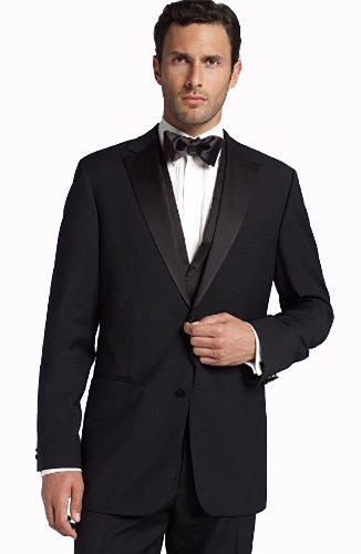 Men's Classic Black Formal Tuxedo Suit - Ultra Soft Fabric