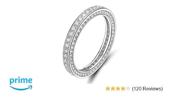 3c8c20b51f2cb Amazon.com: SOMEN TUNGSTEN 925 Sterling Silver Rings Cubic Zirconia ...