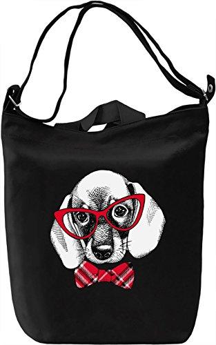 Cute Dog Borsa Giornaliera Canvas Canvas Day Bag  100% Premium Cotton Canvas  DTG Printing 