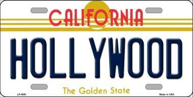 With Sticky Notes Bargain World Hollywood California Novelty Metal License Plate
