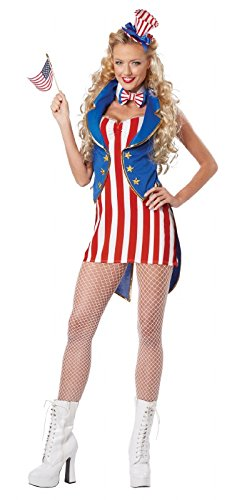 Miss Independence Uncle Sam Adult (Adult Miss Independence Costumes)