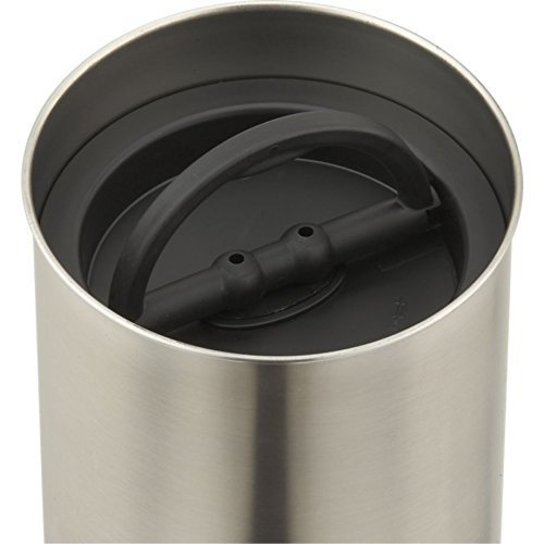 Planetary Design Airscape Coffee Storage Canister (1 lb Dry Beans) - Patented Airtight Lid Pushes Air Out to Preserve Food Freshness - Stainless Steel Food Container - Brushed Steel by Planetary Design (Image #3)