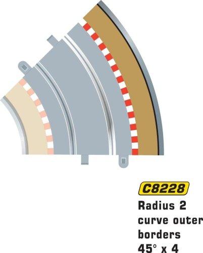 Hornby France - Scalextric - C8228 - Circuit - Voiture - Bordures et barrières extérieures 4°