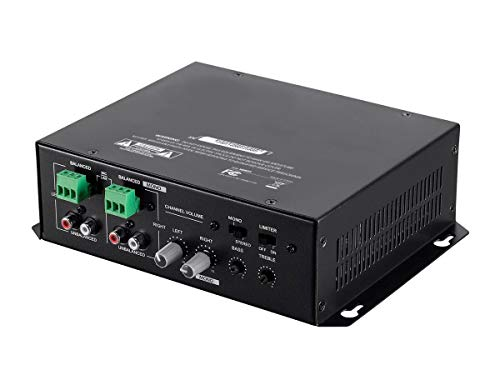 Monoprice Commercial Audio 120W 2ch Mixer Amp (No Logo)