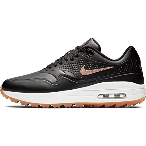 Nike Women's Air Max 1 G Golf Shoes(Black/Red Bronze/Brown,9,B (M) US)