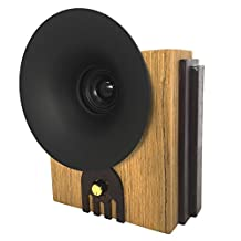 Retro Wooden Speaker Handmade by Nuvitron - Model Marconi, The Vintage Looking Bookshelf Speaker with an Internal Acoustic Soundwave Chamber for a Natural and enhanced Sound - Bluetooth