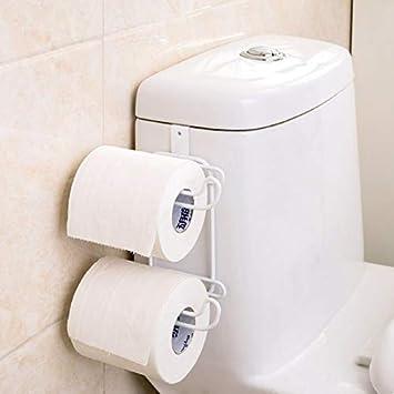 COMFET - Portarrollos de Papel higiénico con Gancho, multifunción, para Papel higiénico y Toallas, Color Negro: Amazon.es: Hogar