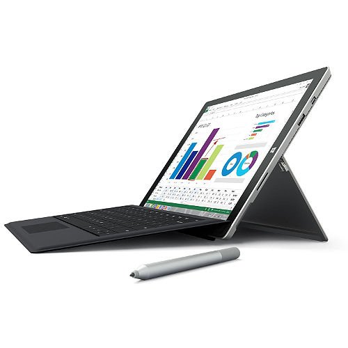 2015 Newest Microsoft Surface 3 Bundle Quard-core 64GB 10.8-inch 10-point Multi-touch Screen tablet with 1920 x 1280 with Original Black Keyboard Surface Pen and 1-year free office 365(win 10)