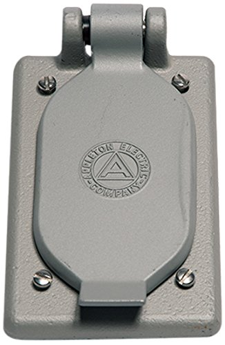 Appleton FSK-1VDR-A Cast Cover for Duplex Receptacle, 1 Gang, CF Aluminum