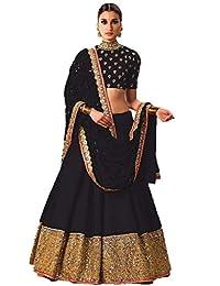 Indian Designer Eid Special Party Wear Branded Shakshi Black Lehenga by fab zone