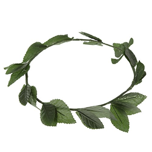 MagiDeal Green Leaf Roman Greek Goddess Laurel Wreath Fancy Dress Costume Headband]()