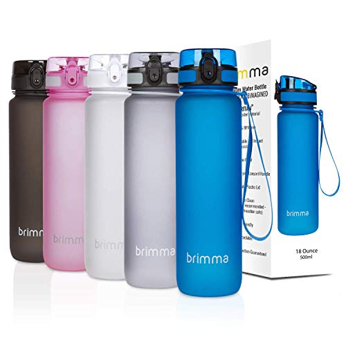 Personalized Plastic Water Bottles (Brimma Premium Sports Water Bottle with Leak Proof Flip Top Lid - Eco Friendly & BPA Free Tritan Plastic - Must Have for The Gym, Yoga, Running, Outdoors, Cycling, and)