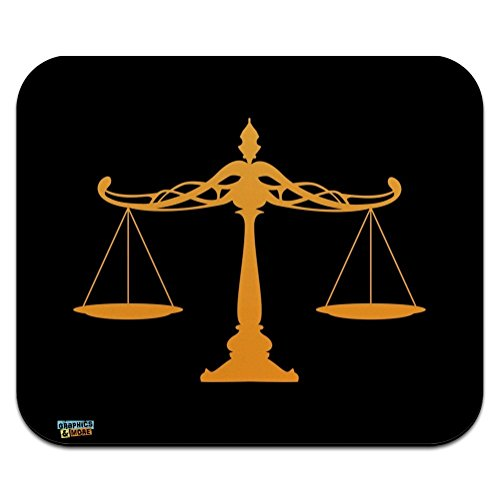 Scales of Justice Legal Lawyer Low Profile Thin Mouse Pad Mousepad