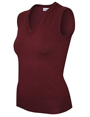 cielo-womens-garments-v-neck-soft-durable-sweater-vest-extra-large-sw665-burgundy