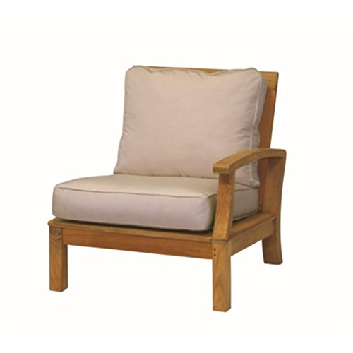 Three Birds Casual Monterey Patio Sectional Right Arm Chair in Teak (Monterey Sectional)