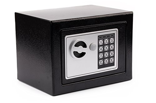 Windaze Electronic Digital Safe Box Keypad Lock for Gun Cash Jewelry Valuable Storage, 0.23 Cubic Feet (Lock Safe Digital)