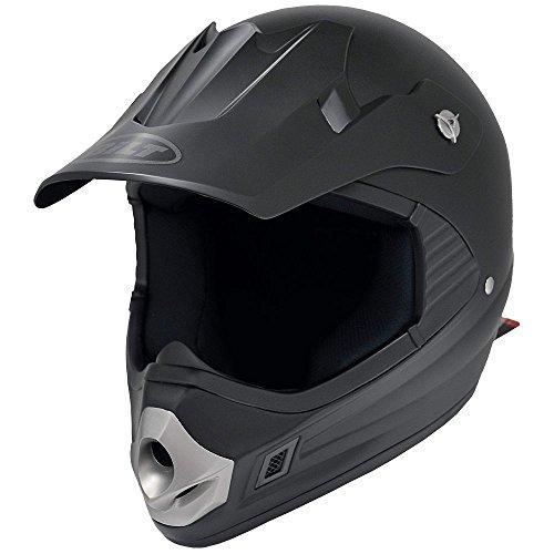 Helmet Sm Matte (BILT Kid's Clutch 2 Off-Road Motorcycle Helmet - SM, Matte Black)