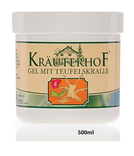 Teufelskralle Gel 500ml, für erfrischenden Pflege und wohltuenden Massage, enthält einen Extrakt aus den Wurzeln der Teufelskralle sowie Eukalyptus, Menthol und Kampfer, sorgt für ein entspanntes Wohlbefinden