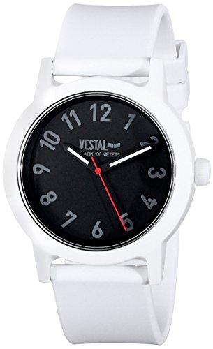 Vestal Men's ALP3P01 Alpha Bravo Plastic Analog Display Japanese Quartz White Watch