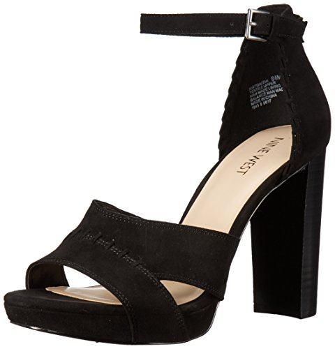 Nine West Women's Daithi Fabric Sandal Black Fabric buy cheap how much hot sale cheap online 91ZWn9