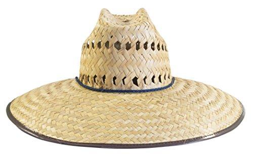 Men's Palm Braid Crushed Safari Straw Hat Hat / Sombrero de Palma Tipo Safari