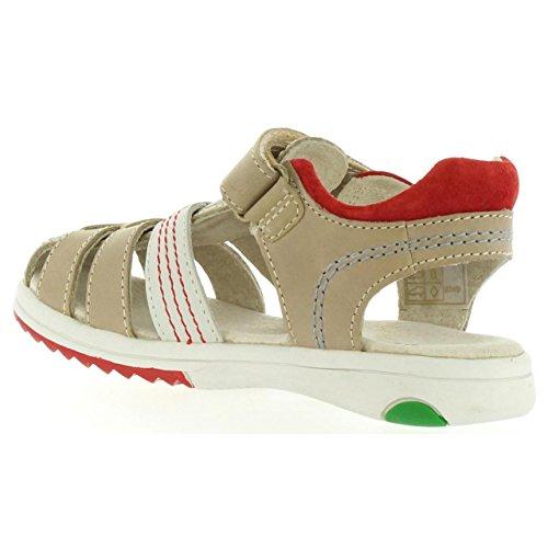 Kickers Sandalen Für Junge 349503-30 Platinium 123 Gris Rouge