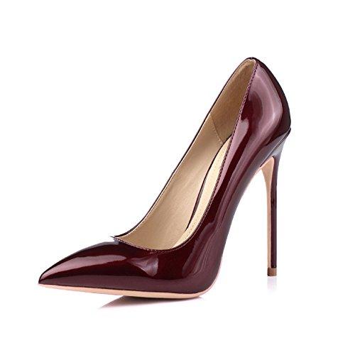 Altos Mujer De Corte De Rojo Vino Trabajo Tal Tacones Club Sexy Nocturno Zapatos Fiesta Boda wwSrtAaBqn