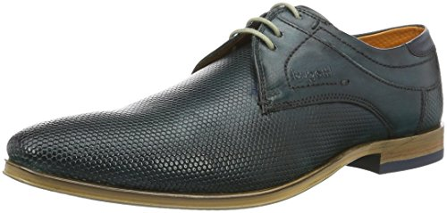 Bugatti 312234021100, Zapatos de Cordones Derby para Hombre Blau (Blau 4000)