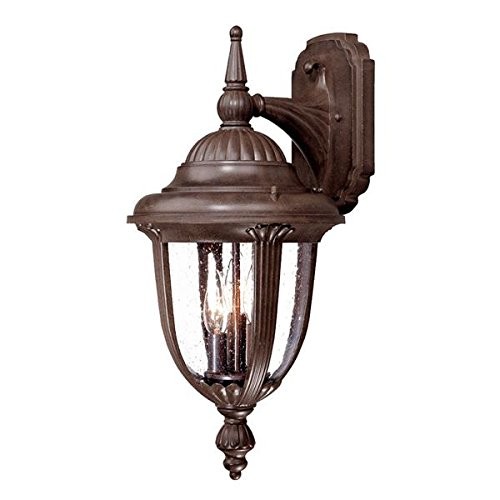 Acclaim 3522BW Monterey Collection 3-Light Wall Mount Outdoor Light Fixture, Burled Walnut