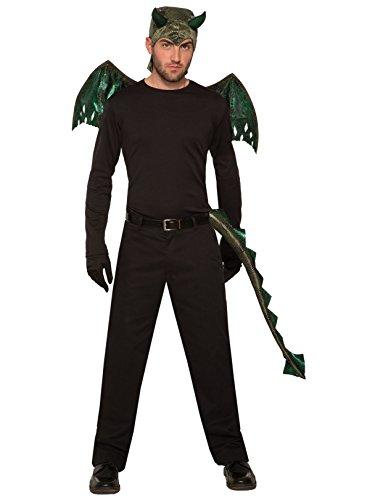 Forum Novelties 81213 Men's Dragon Tail, Green, Standard