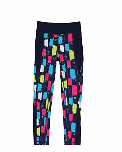 Good Lad Youngsports Girls Activewear Navy Multicolor Sports Leggings (7/8)