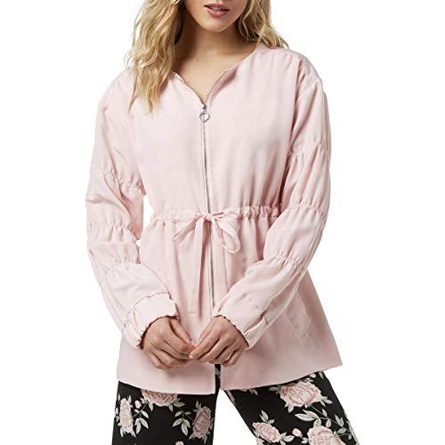 (kensie Women's Sandwashed Micro Fabric Jacket KS3K2284 Blossom Medium )