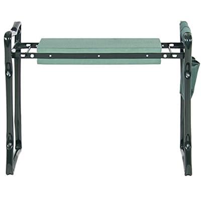 Foldable Garden Kneeler Garden Pad Seat Handles Bench Tool Pouch Portable Stool