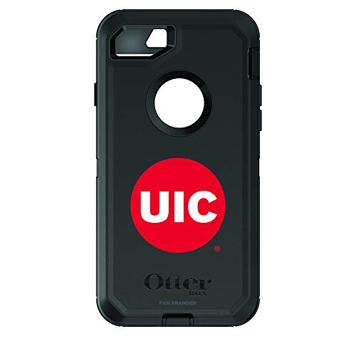Fan Brander NCAA Phone case, Compatible with Apple iPhone 6 and Applie iPhone 6s with OtterBox Commuter Series (Illinois @ Chicago Flames)
