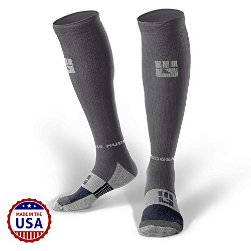 (MudGear Premium Compression Socks - Mens & Womens Running Hiking Trail (1 Pair))