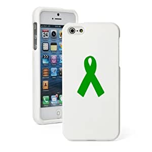 phone covers Diy Yourself Apple iPhone 5c White Rubber Hard 4nd4oCbZGjS case cover Snap on 2 piece Green Awareness Ribbon