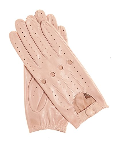 fdebba4d2 Fratelli Orsini Everyday Women's Open Back Leather Driving Gloves Size 6  1/2 Color Pink
