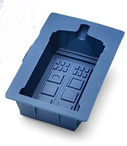 Dr Doctor Who Tardis Silicone Ice Cube Tray Jello Mold Chocolate Gelatin Cake (Doctor Who Baking Mold)