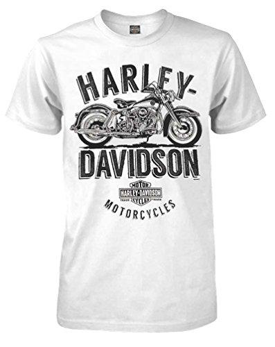 Harley-Davidson Men's Feel The Rumble Crew Neck Short Sleeve Shirt 5504-HC9D
