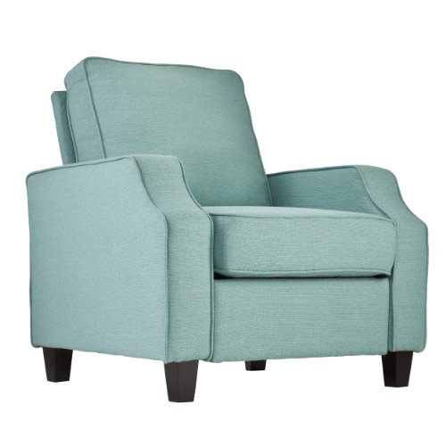 Southern Enterprises Kinsley Upholstered Accent Arm Chair, Turquoise