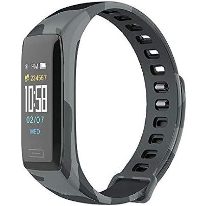 Smart Bracelet Heart Rate Monitor Wristband Multi-sports Waterproof Watch Camouflage Gray Estimated Price -