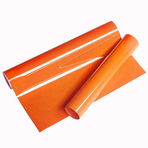 VINYL FROG Orange Heat Transfer Vinyl 10x60(5 feet) Iron On HTV for Cameo or Heat Press Machine