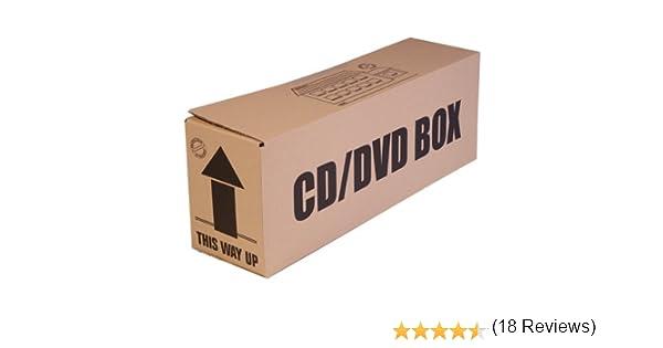 Paquete de 5 cajas de cartón para CD y DVD, ideales para almacenamiento y mudanzas: Amazon.es: Hogar