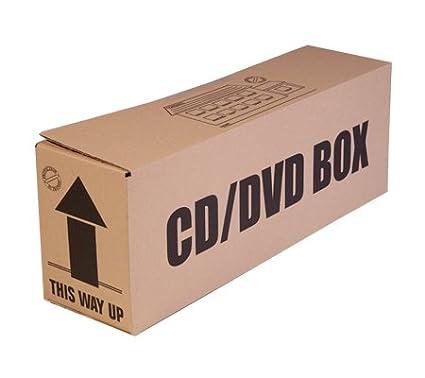 Paquete de 5 cajas de cartón para CD y DVD, ideales para almacenamiento y mudanzas