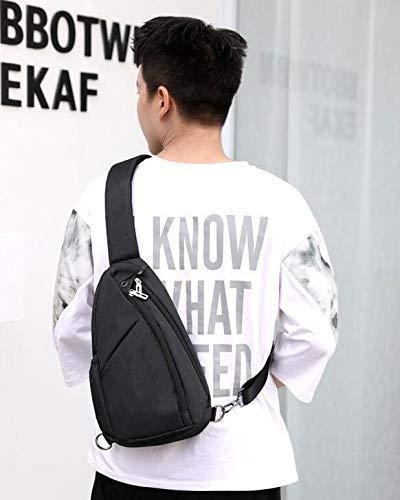 d5dbe955fe Chest Bag Home Borsa a Tracolla Sportiva Multifunzionale Multifunzionale  Multifunzionale per Esterni Borsa Sportiva a Tracolla per Uomo in  Poliestere con ...