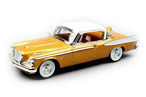 (Lucky Road Signature 1958 Studebaker Golden Hawk Hard Top, Gold 94254G - 1/43 Scale Diecast Model Toy Car)